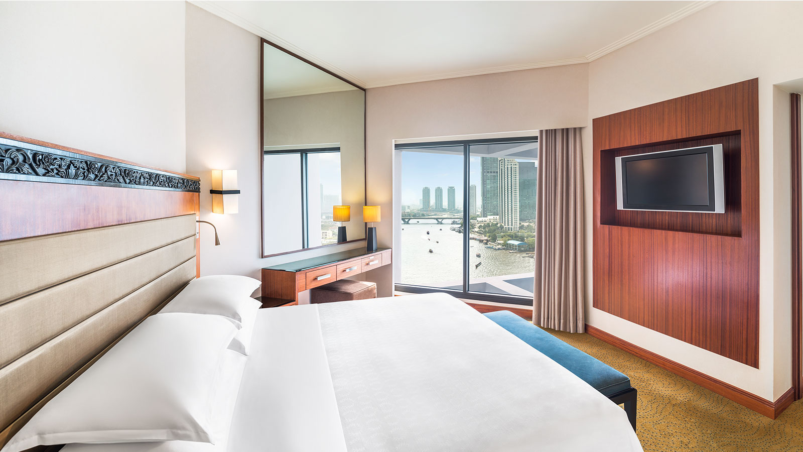 Club Junior Suite mit Flussblick - Royal Orchid Sheraton Hotel, Bangkok