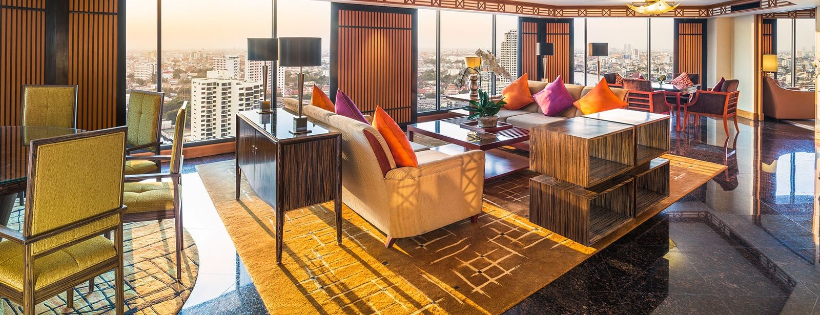 Royal Orchid Presidential Suite - Living Room - Royal Orchid Sheraton Hotel Bangkok